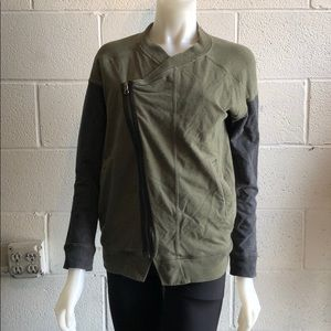 Lululemon gray & olive side zip jacket size 4